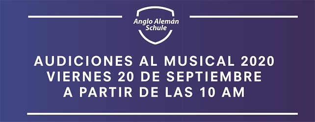 Audiciones para la Revista Musical 2020
